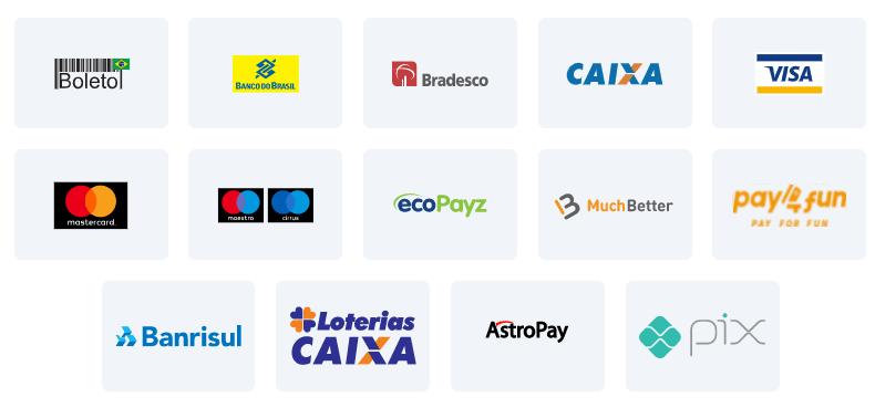 Todos os meios de pago da GGBet Brasil