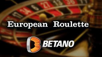 Roleta Europeia na Betano Casino Brasil