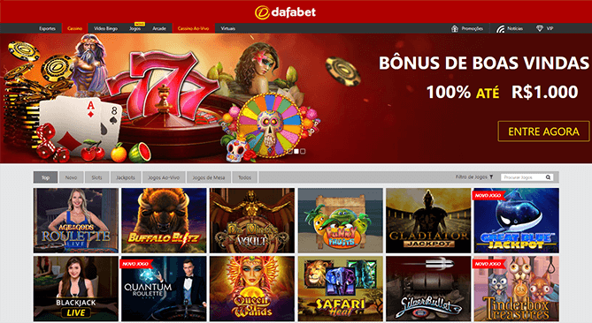 Dafabet casino um dos mais completos no brasil